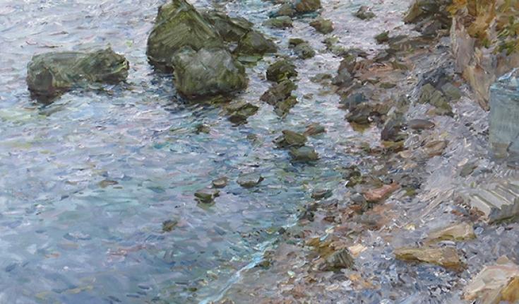 """В.Р.Єфименко.  """"Вечірнє море"""" 2011 Полотно/олія."""