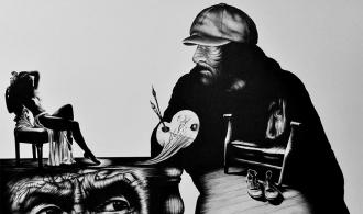Self-Portrait, Pen Graphic Arts, 62х47