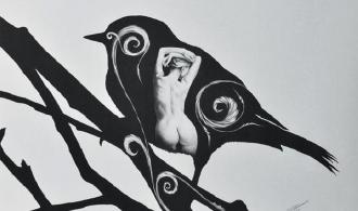 One Heart, Pen Graphic Arts, 47х62